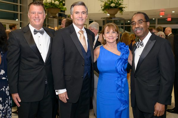 Drs. Kerschner, Good, Ganzel and Reece gather for the UF College of Medicine 60th anniversary gala. Photo by Jesse S. Jones