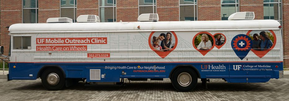 UF Mobile Outreach Clinic Bus