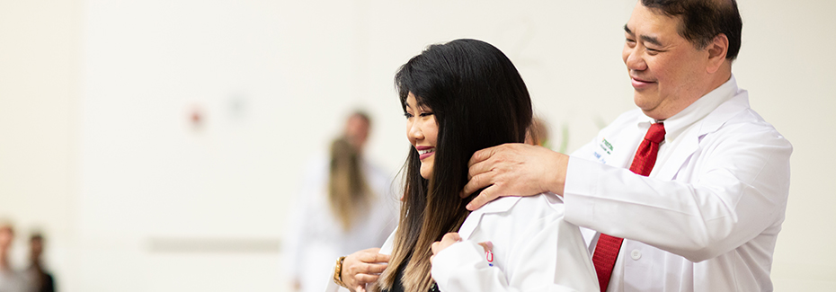 PA student receives her white coat