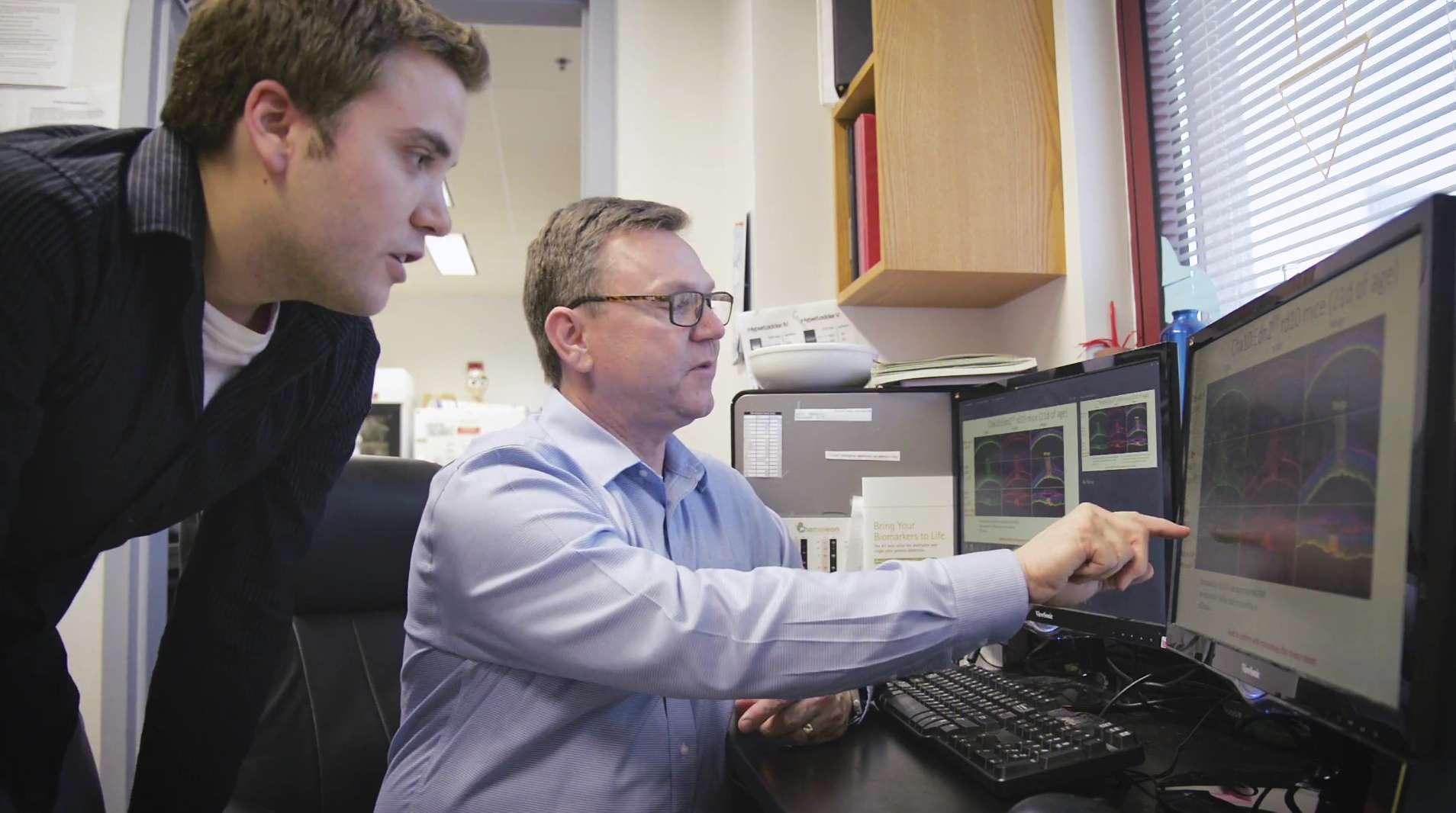 John Ash in lab