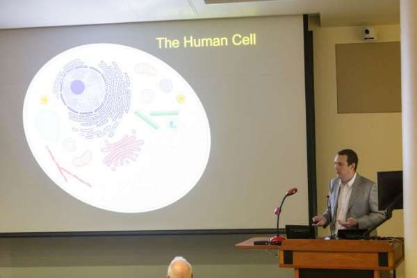 John Calise presents his research