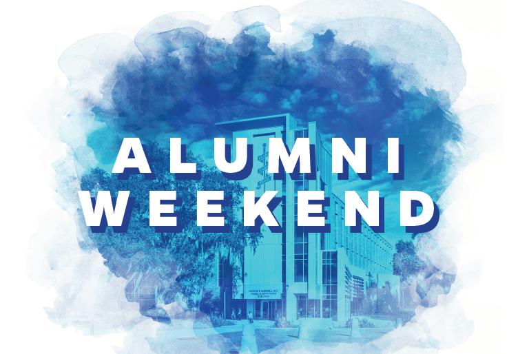 Alumni Weekend watercolor graphic