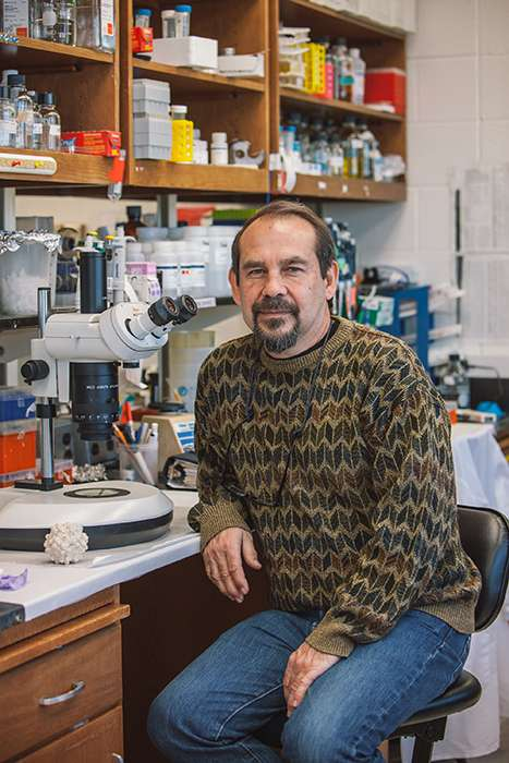 Jude Samulski in his lab
