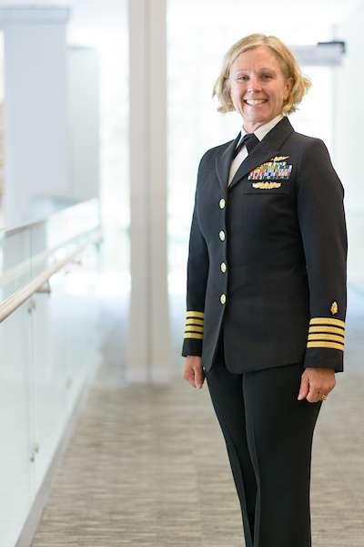 Kim Toone in Navy uniform